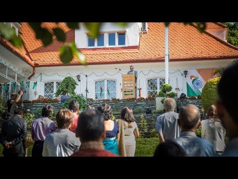 India @70 celebrations –  Morning celebration and  Lighting of Embassy Residence in Budapest
