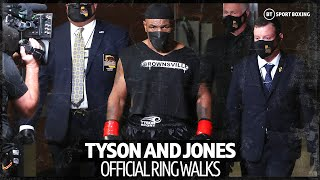 Mike Tyson and Roy Jones Jr official ring walks