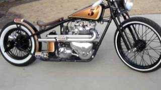 """Angry Monkey"" Running at last! 1956 Triumph TR6 Kustom Bobber. built by Dan Patterson."