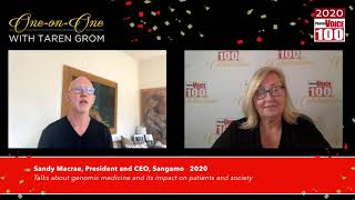 Sandy Macrae, Sangamo – 2020 PharmaVOICE 100 Celebration