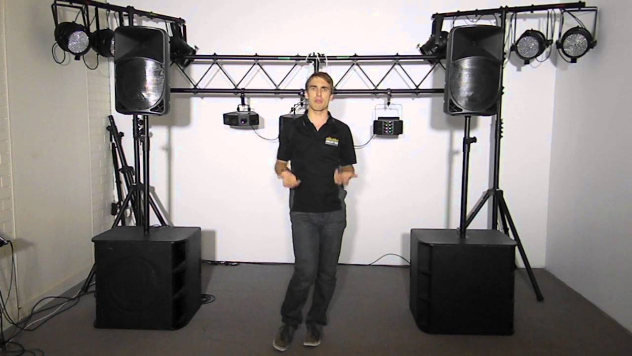 pa system with subs bands and dj 39 s youtube. Black Bedroom Furniture Sets. Home Design Ideas