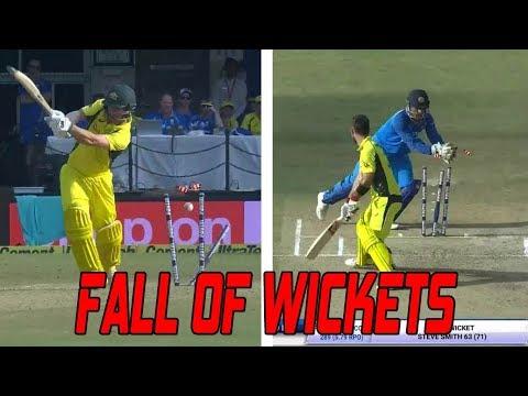 Australia Fall of Wickets | India Vs Australia 3rd ODI highlights 2017 ind vs aus odi kuldeep yadav