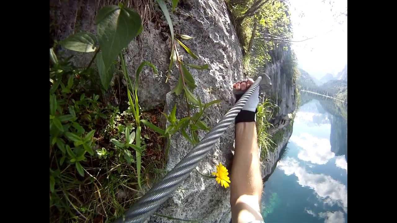 Laserer Alpin Klettersteig : Klettersteig gosausee laserer alpin teil youtube