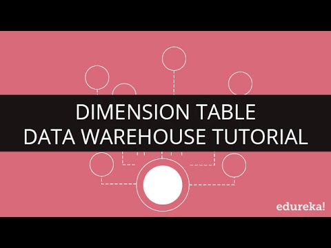 Dimension Table | Data Warehouse Concepts | Data Warehouse Tutorial for Beginners| Edureka