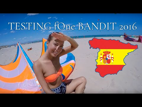 Testing the new F-One Bandit  12m² 2016 (Kitesurfing in Spain, Guardamar Del Segura)