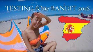 Testing the new F-One Bandit  12m² 2016 (Kitesurfing in Spain, Guardamar Del Segura)