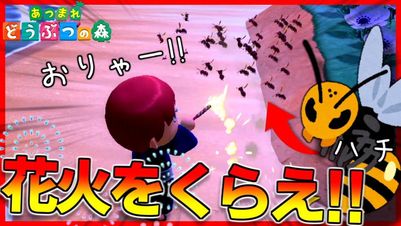 【あつ森】手持ち花火をハチに打ったら退治できるんじゃね?【あつまれどうぶつの森】