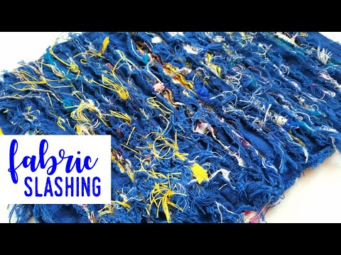 Fabric Slashing - Craft With Me