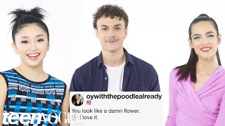 The Cast of Deadly Class Compete in a Compliment Battle | Teen Vogue