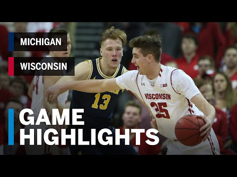 Wisconsin Badgers - Video Highlights: Wisconsin 64, Michigan 54