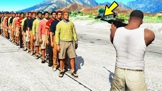 Сколько людей может убить 1 пуля в GTA 5...