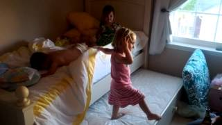 6/8/12 Play Date - Trundle Bed Bouncing