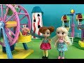 Peppa Pig! Elsa and Anna Toddlers go Peppa Pig World! Full Toys Episode! Fun Fair Games & Ice Cream!