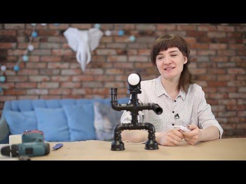Оригинальная лампа из лейки: как я первый раз делала электроприбор