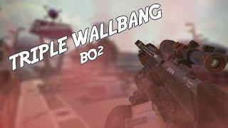 Repeat youtube video Black Ops 2 | Triple Sniper Kill through Wall (WALLBANG) - BroComedyGames