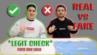 REAL VS FAKE! SUPREME BOX LOGO HOODIE *LEGIT CHECK* (How to spot a fake)