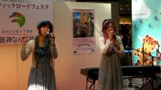 なんばCITYでのミニライブ。 阪神なんば線開通1周年記念イベントに...