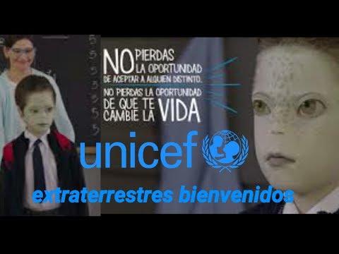 UNICEF LANZA CAMPAÑA PARA EXTRATERRESTRES QUE VIVEN ENTRE NOSOTROS SE INTEGREN A LA SOCIEDAD