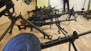 Самая большая коллекция оружия времен ВОВ, изъятая полицией у черных копателей!