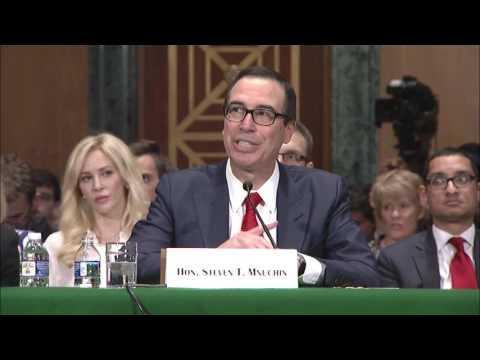 Senator Warren Questions Sec. Mnuchin about Reversing Stance on Glass-Steagall