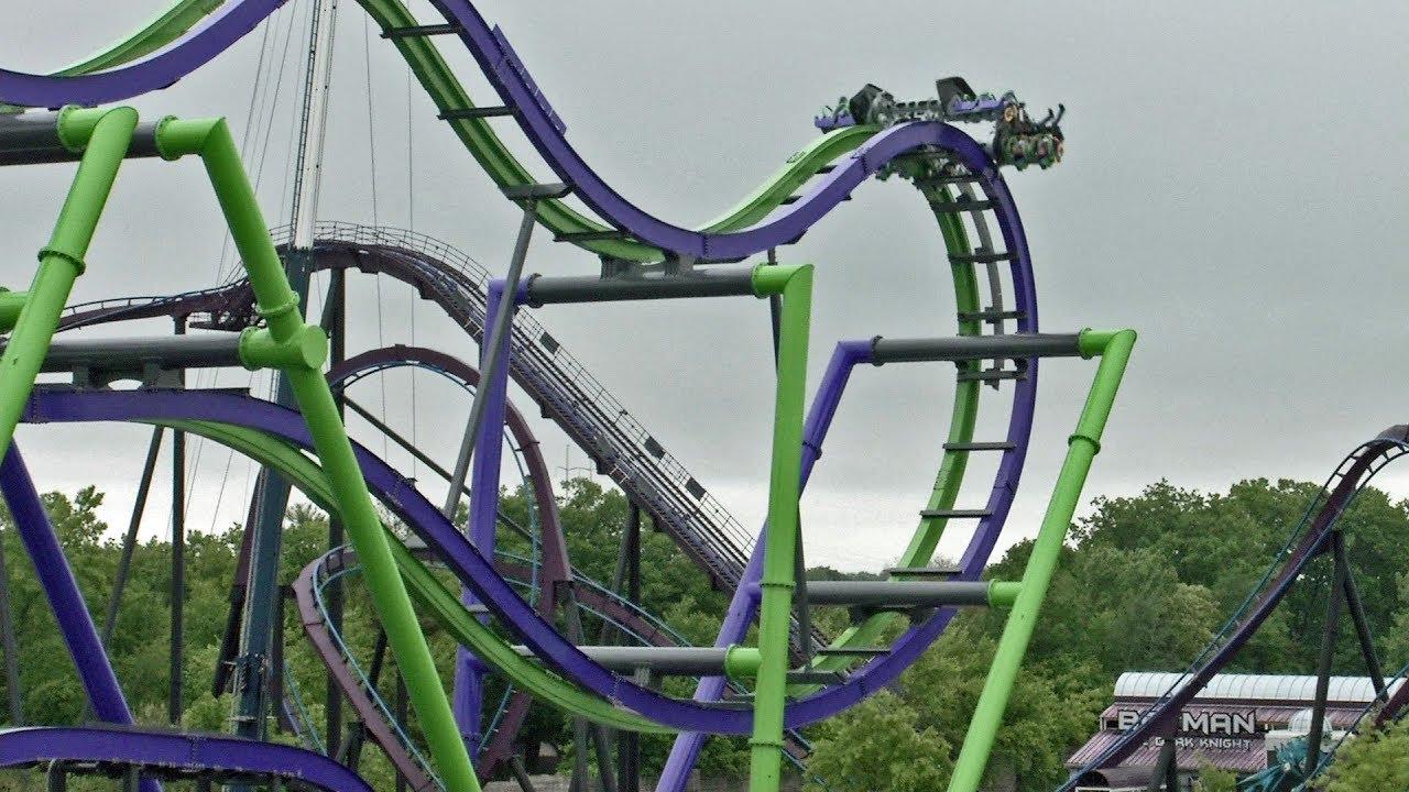 Joker On Ride Off Ride Multicam Hd Pov Six Flags New England