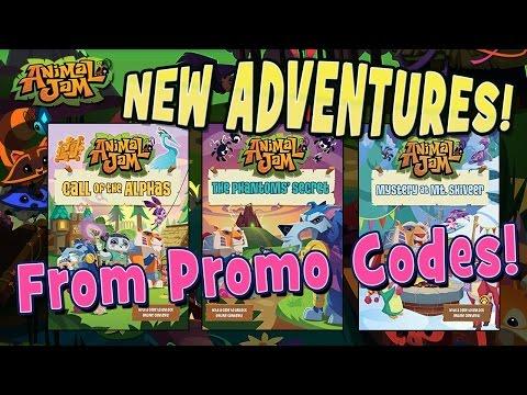 PROMO CODES TO NEW ADVENTURES ON ANIMAL JAM! AJ BOOKS
