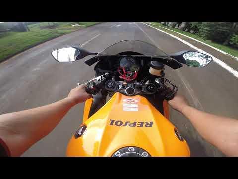 Pilotando   Honda  CBR1000 RR REPSOL 2011, Incrível Maquina Equilibrada.