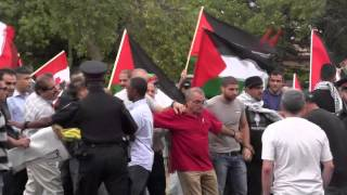 JDL At Palestine House July 3 2014 - Protest Turns Violent