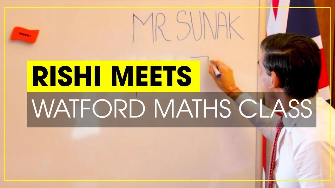 Chancellor Rishi Sunak meets Watford Maths Class