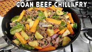 Beef Chilli Fry Recipe | Goan Beef Chilly Fry Recipe |Chili Beef Stir Fry Recipe | Goan Beef Recipes