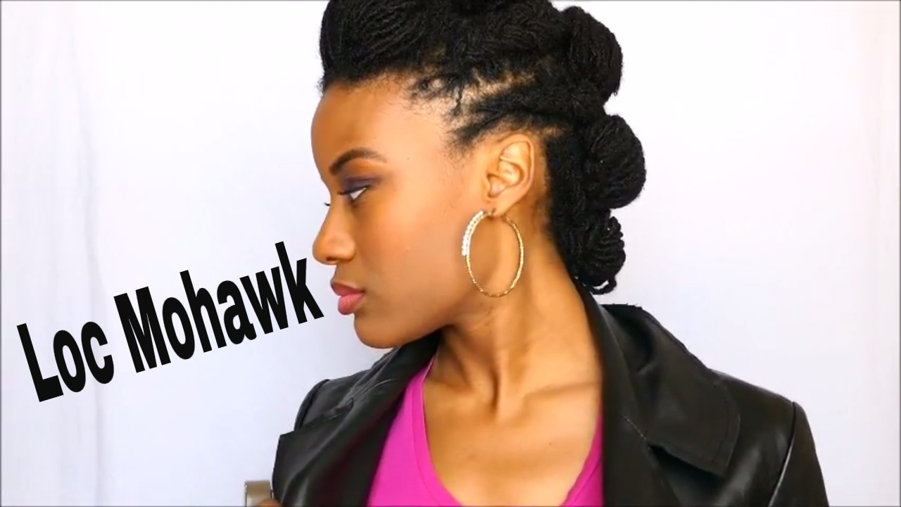 How To Do A Mohawk On Locs Youtube