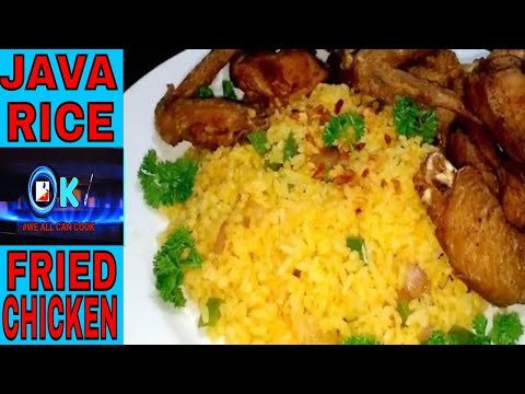 JAVA RICE AND CRISPY FRIED CHICKEN RECIPE PERFECT COMBINATION - HOW TO MAKE | ONCHO'S KITCHEN👍