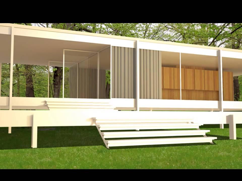 Casa farnsworth mies van der rohe grupo 2 youtube for Casa minimalista de mies van der rohe