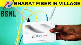 BSNL Bharat Fiber Broadband in Village   Plans   Speed   Installation charges