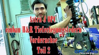 Einbau H&R Tieferlegungsfedern Vorderachse Teil 2