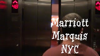 The Famous Schindler Miconic 10 Elevator to the View at the Marriott Marquis NYC New York