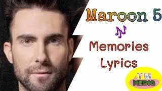 Maroon 5|| Memories || Slow || With Lyrics