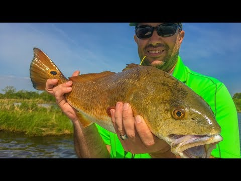 Targeting rod-shattering redfish from a tower