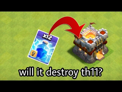 Clash Of Clans Townhall 11 Destroy With Lightning Spell