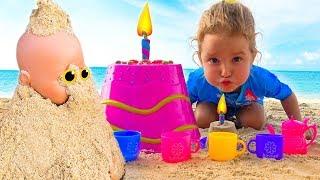 Fun plays Milusik Lanusik  with Dolls and cups toys