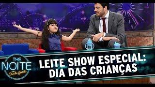 The Noite (09/10/14) - Leite Show: Dia das Crianças