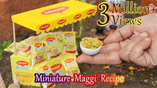 MINIATURE MAGGI RECIPE - TINY FOODS - MINIATURE COOKING - MINI FOODS - MMF E#10