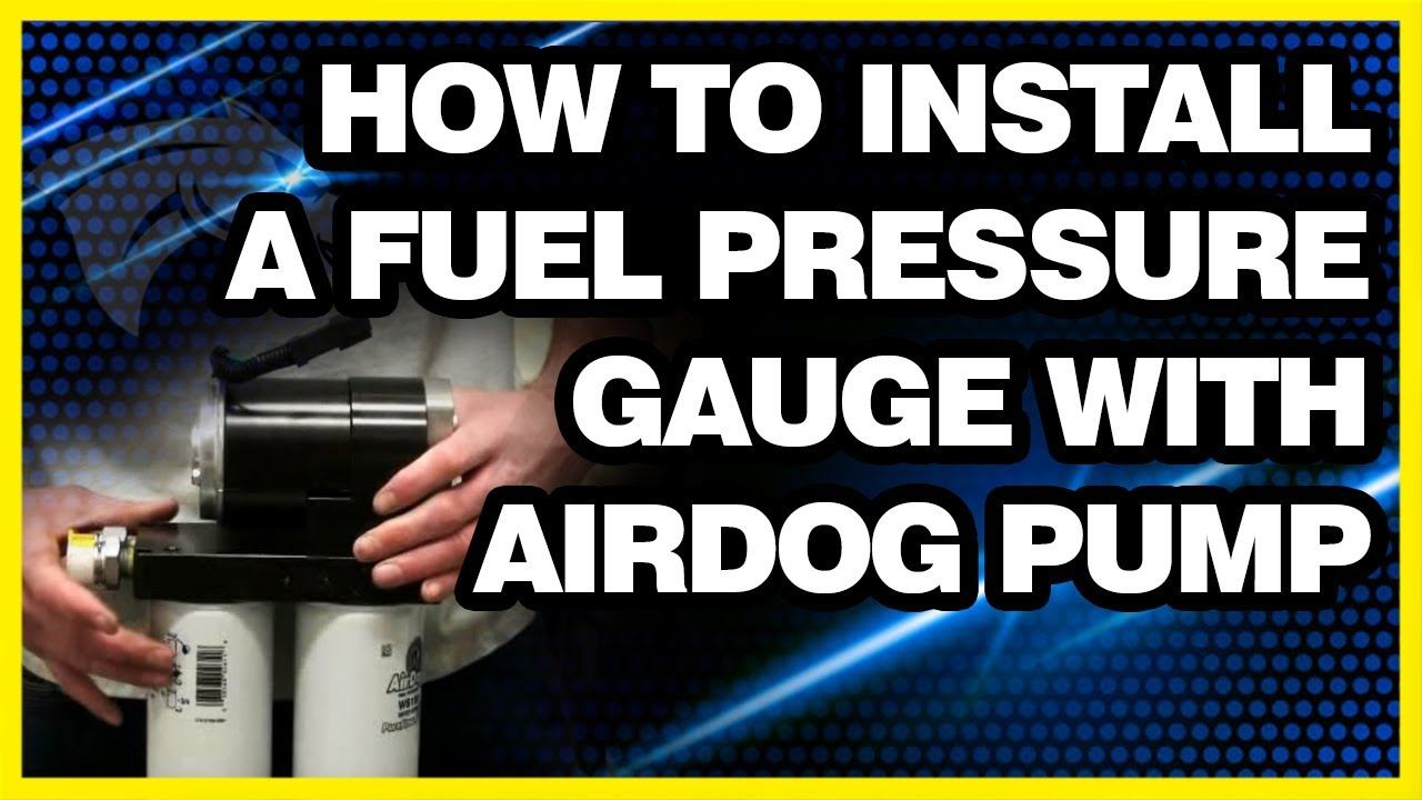 How To Install A Fuel Pressure Gauge With Airdog Pump Youtube 1995 Dodge Ram Filter Location