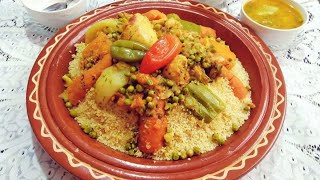 Moroccan Couscous Recipe step by step / Food in Morocco ASMR