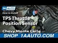 How To Install Replace TPS Throttle Position Sensor 3.4L Chevy Monte Carlo