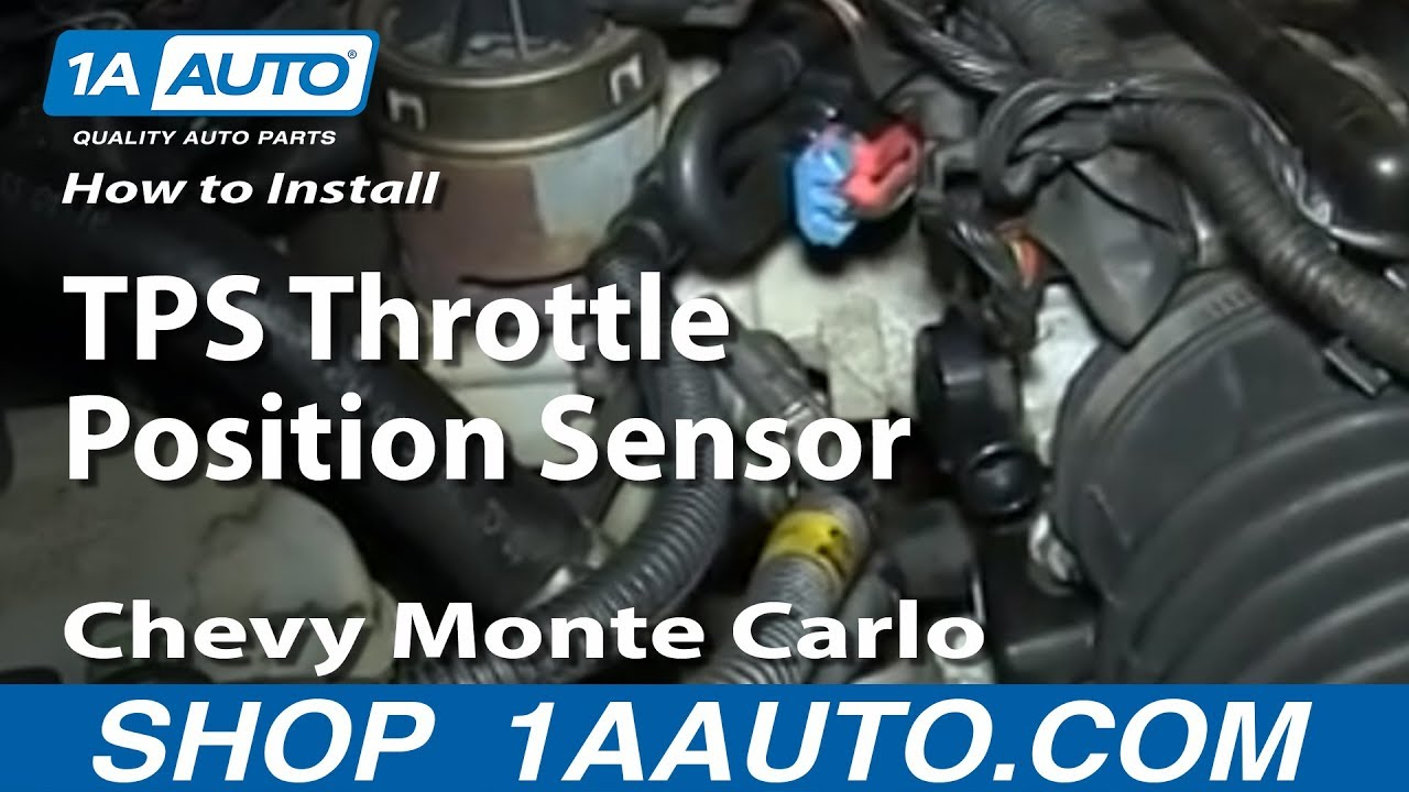 how to install replace tps throttle position sensor 3 4l chevy monte carlo [ 1280 x 720 Pixel ]