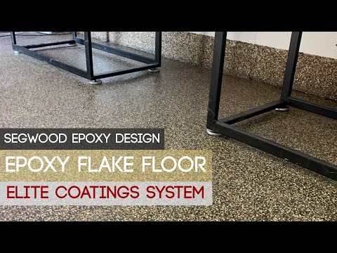 Epoxy flake floor - black, brown, beige, ideal for exterior and interior floors