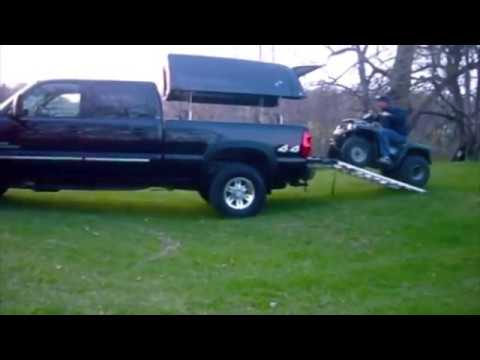 Loading Atv With Truck Topper Youtube