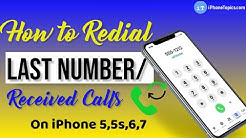 How to Redial Last Number/Call Received on iPhone 6, 7, 5, and 5s