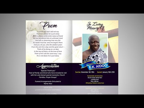 How To Design An Obituary Card